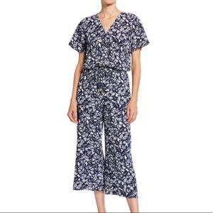 Michael Kors Floral V-Neck Culotte Jumpsuit